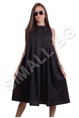 Дамска рокля с плисета