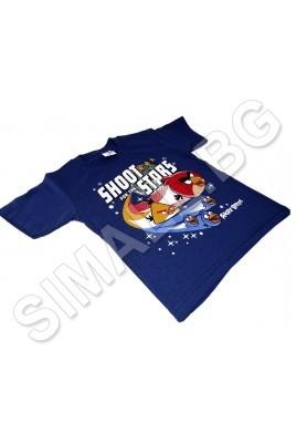 Тениска с къс ръкав за момчета от 4 до 8 години с ANGRY BIRDS