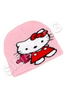 Детска зимна шапка ХЕЛОУ КИТИ за момичета от 1 до 5 години