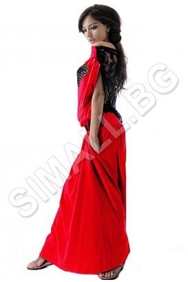 Ladies long dress with lace back in 8 colors