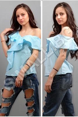 Дамска елегантна риза с копчета в 2 цвята