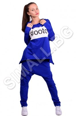 Дамска блуза с качулка в 4 цвята