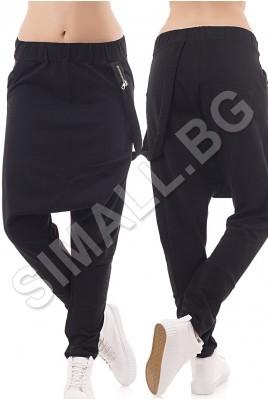 Дамски спортен панталон тип потур в 4 цвята