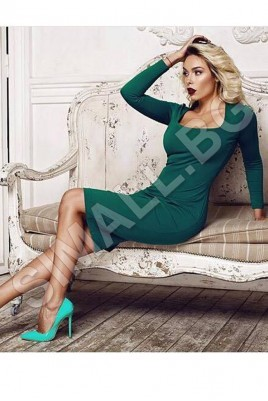 Дамска елегантна рокля в 6 цвята