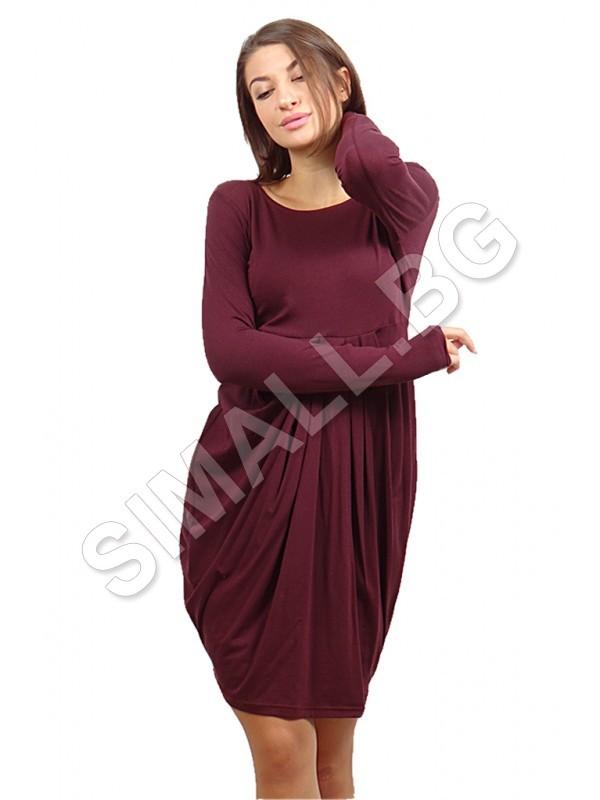 b8e59f5cb86 ... Дамска рокля тип балон с дълъг ръкав. Увеличи. Покажи повече снимки