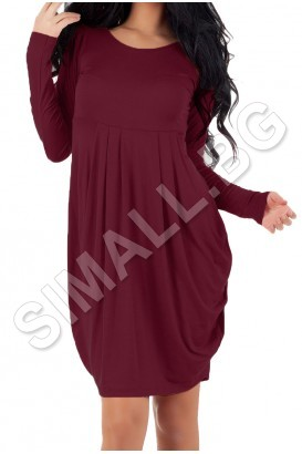 Ladies long-sleeved balloon dress