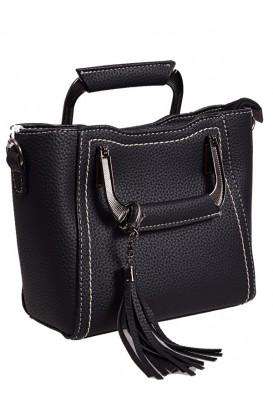 Дамска елегантна чанта в черен цвят