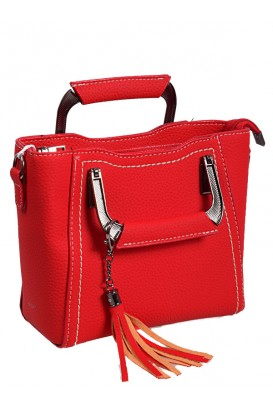 Дамска елегантна чанта в червен цвят
