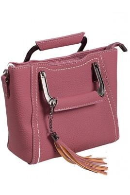 Дамска елегантна чанта в пепел от рози цвят