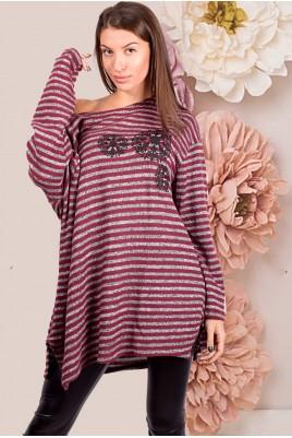 Дамска туника тип блуза в 2 цвята