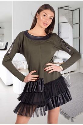 Дамска екстравагантна рокля тип туника в 6 цвята