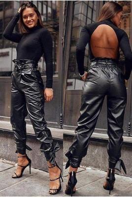 Дамски кожен панталон