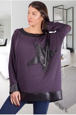 Дамска блуза тип туника в 3 цвята