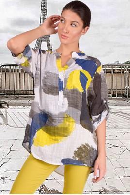 Дамска свободна блуза тип риза