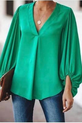 Дамска ефирна блуза тип риза в 3 цвята