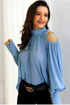 Дамска ефирна блуза в 3 цвята