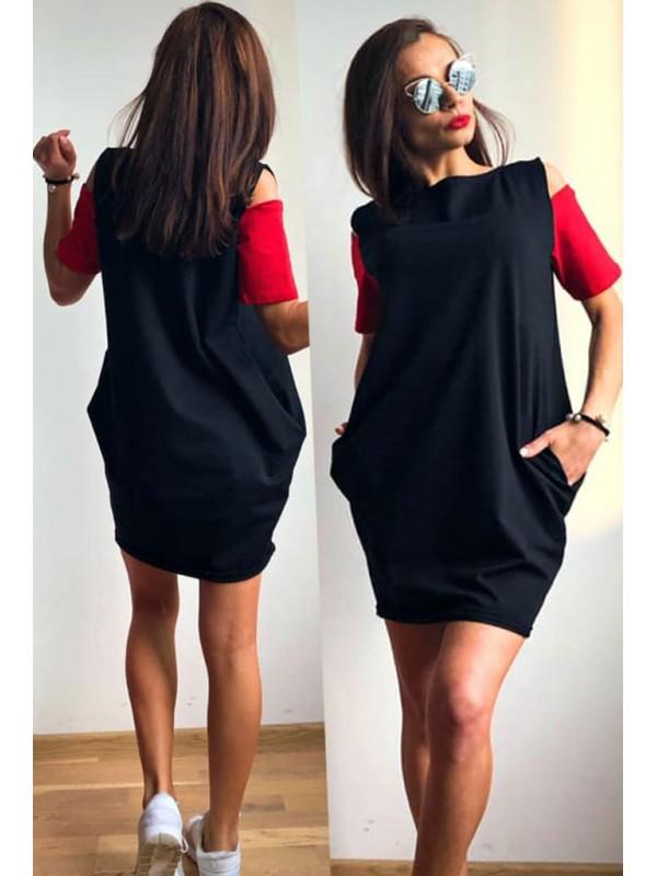 f8896da2a34 Дамска рокля тип балон в 5 цвята   SiMALL Онлайн Магазин