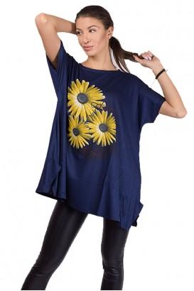 Дамска свободна блуза тип туника в 2 цвята