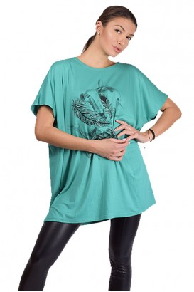 Дамска свободна блуза тип туника