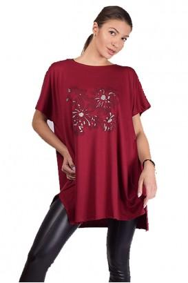Дамска свободна блуза тип туника в 7 цвята