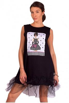 Дамска рокля с тюл
