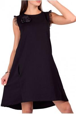 Дамска рокля с тюлени елементи