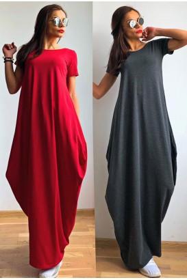 Ladies long dress in 4 colors