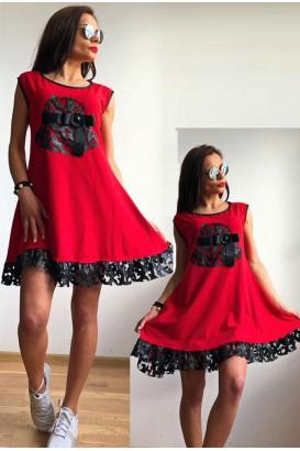 Ladies tunic style sleeveless dress