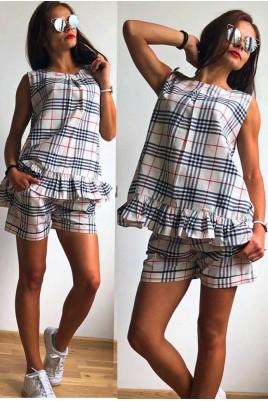 Дамски комплект туника с къси панталонки