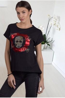 Дамска блуза с къс ръкав в 2 цвята