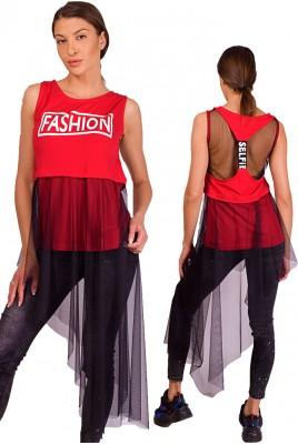 Дамска блуза тип туника в 4 цвята
