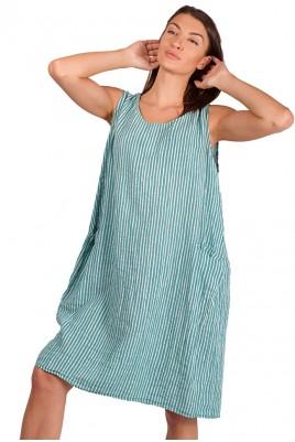 Дамска ефирна рокля в 2 цвята