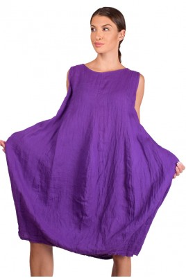 Дамска ленена рокля