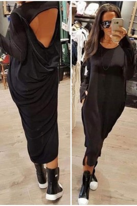 Дамска екстравагантна рокля с интересен гръб