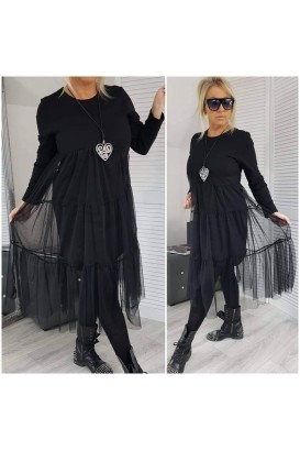 Ladies dress with tulle