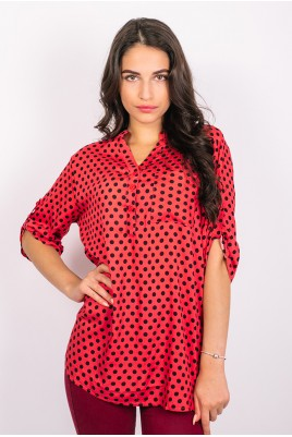 Дамска блуза тип риза в 6 цвята