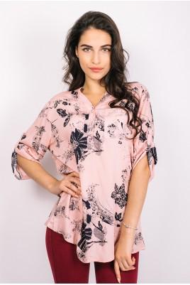 Дамска блуза тип риза в 4 цвята