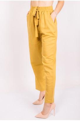Дамски ленен панталон в 6 цвята