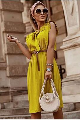 Дамска рокля на точки в 6 цвята