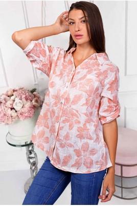 Дамска ленена блуза тип риза в 3 цвята