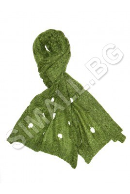 Дамски плетен шал на дупки