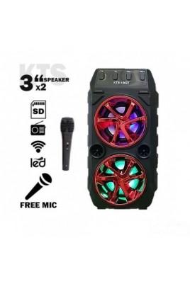 Преносима Bluetooth тонколона KTS-1062+ ПОДАРЪК: микрофон