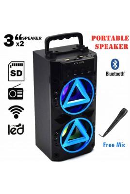 Преносима Bluetooth тонколонка KTS-1037+ ПОДАРЪК: микрофон