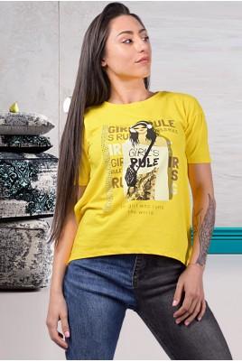 Дамска блуза с къс ръкав в 4 цвята