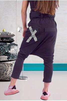 Дамски екстравагантен панталон с щампа