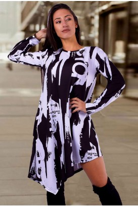 Дамска асиметрична туника тип рокля