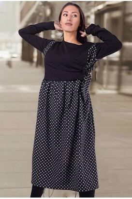 Дамска рокля на точки