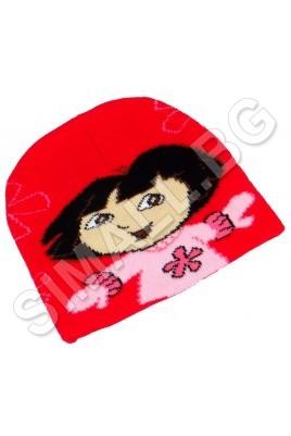 Детска зимна шапка ДОРА за момичета от 1 до 5 години