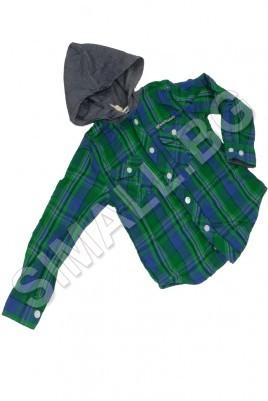 Детска риза с качулка за момчета от 3 до 8 години