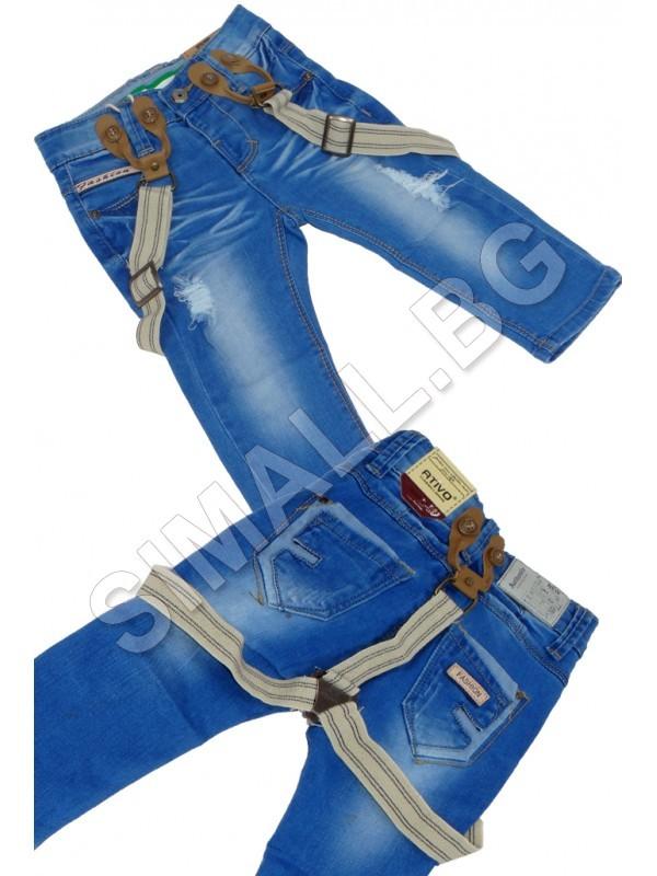 34295362be8 Детски дънки с тиранти за момчета от 1 до 3 години   SiMALL Онлайн Магазин